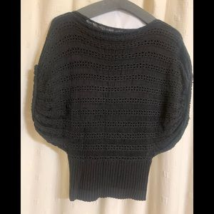 Black 60% Cotton 40% Acrylic Sweater. 3/4 sleeved.